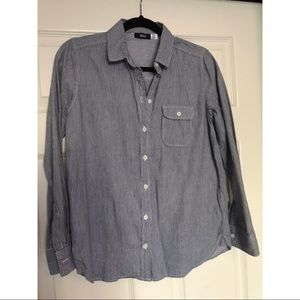 URBAN OUTFITTERS BDG BASIC STRIPE BUTTON DOWN